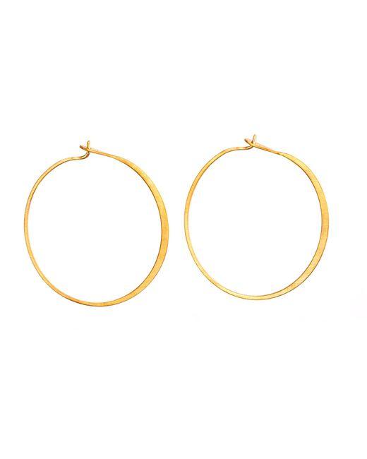 Dutch Basics | Metallic Fine Hoop Earrings | Lyst