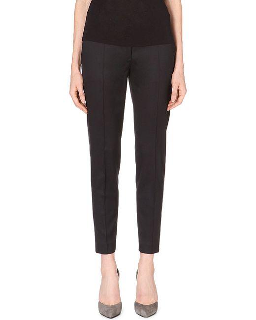 Stella McCartney | Black Vivian Tapered Wool Trousers | Lyst
