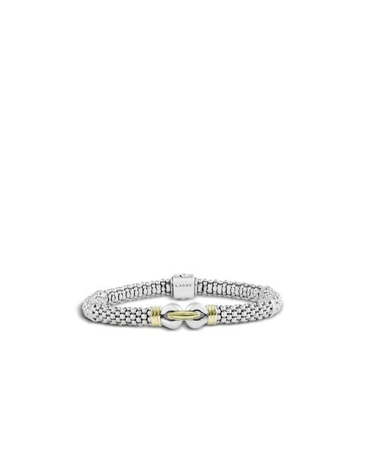 Lagos | Metallic 18k Yellow Gold And Sterling Silver Derby Fluted Rope Bracelet | Lyst