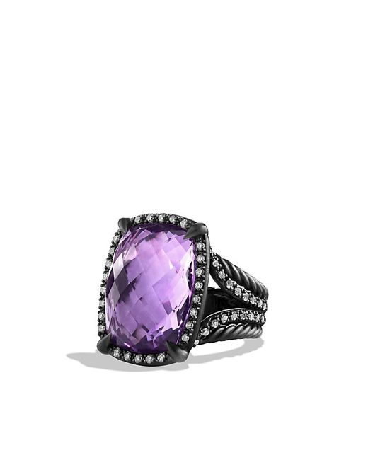 David Yurman | Purple Chatelaine Ring With Amethyst And Gray Diamonds | Lyst