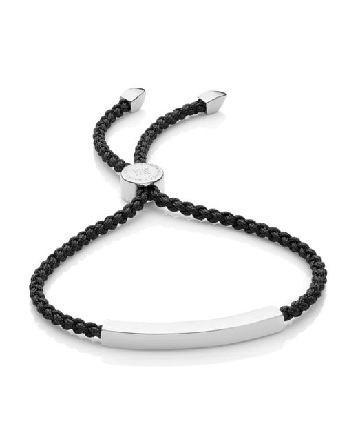Monica Vinader | Black Essencia Friendship Bracelet | Lyst