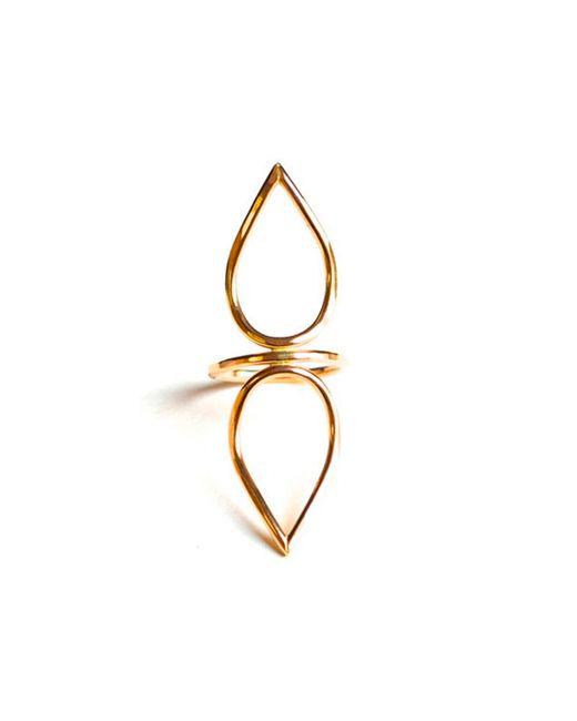 Forever 21 | Metallic Amarilo Lotus Ring | Lyst