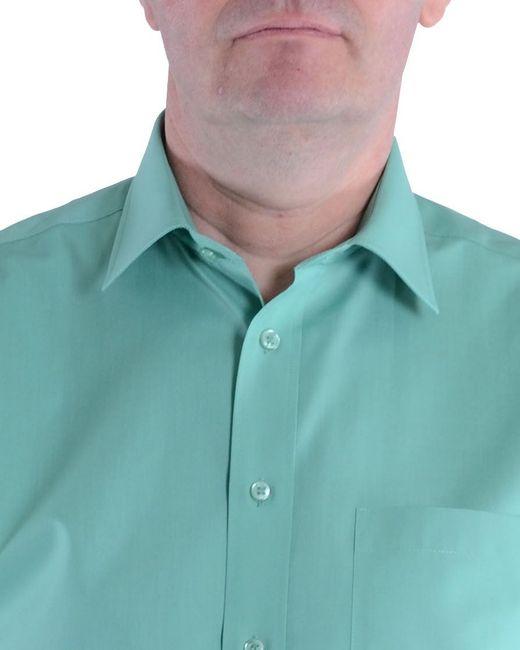 Double Two | Green Plain Cotton Short-sleeved Shirt for Men | Lyst