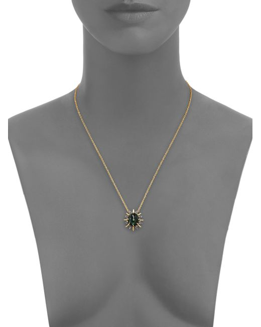 Alexis Bittar | Green Shadow Star Doublet Necklace | Lyst
