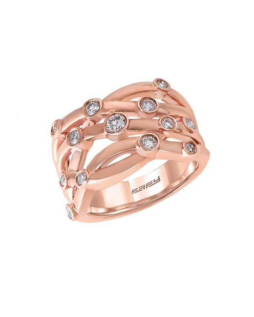 Effy | Pink Pave Rose Diamond And 14k Rose Gold Ring 0.53 Tcw | Lyst