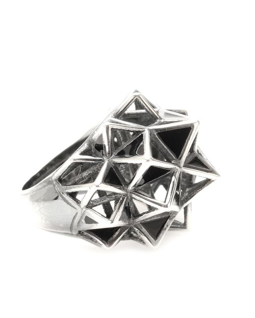 Bottega Veneta | Metallic Sterling Silver Cocktail Ring | Lyst