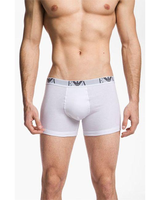 Emporio Armani | 3-pack Boxer Briefs, White for Men | Lyst