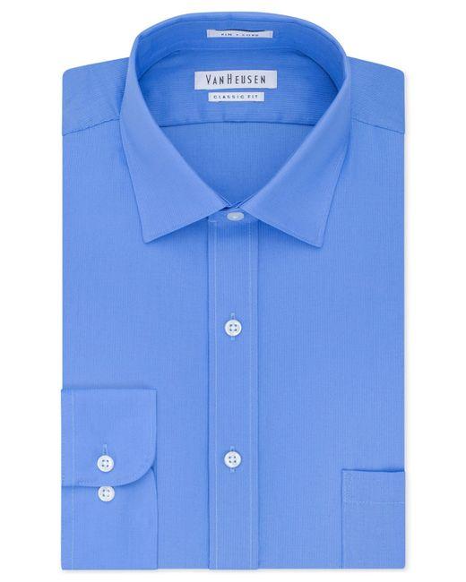 Van heusen men 39 s classic fit non iron pincord dress shirt for Van heusen men s regular fit pincord dress shirt