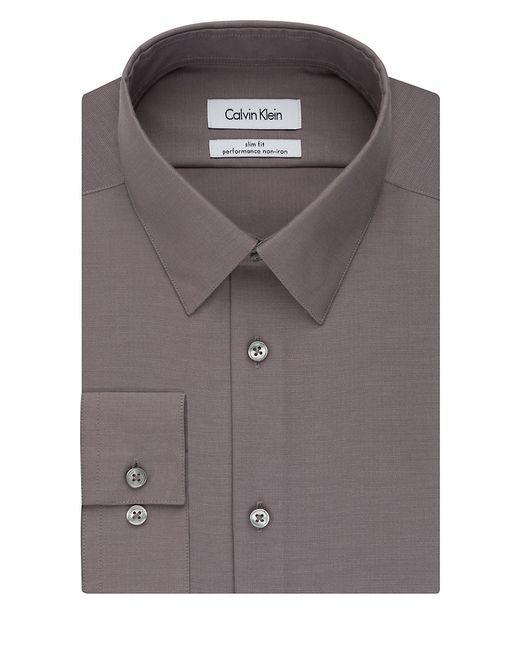 Calvin klein ck steel slim fit performance dress shirt in for Calvin klein athletic fit dress shirt