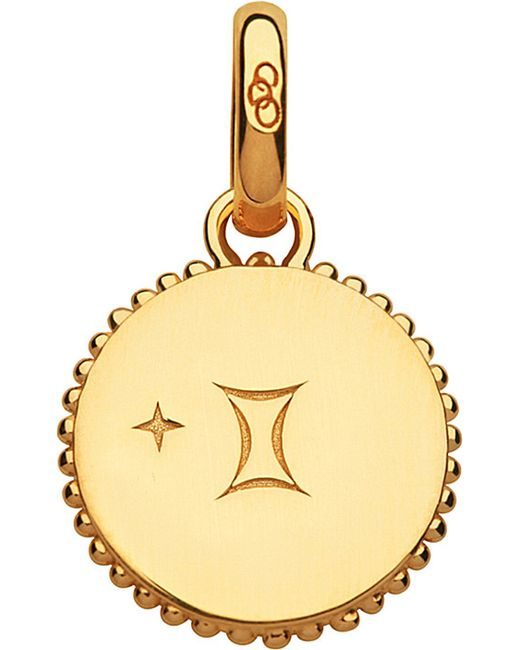 Links of London | Gemini 18ct Yellow-gold Vermeil Zodiac Charm | Lyst