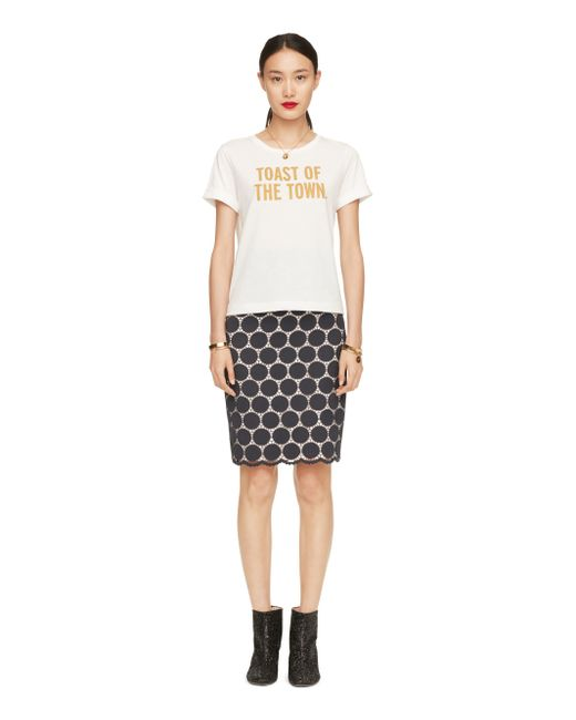 Kate Spade | White Toast Of The Town Tee | Lyst