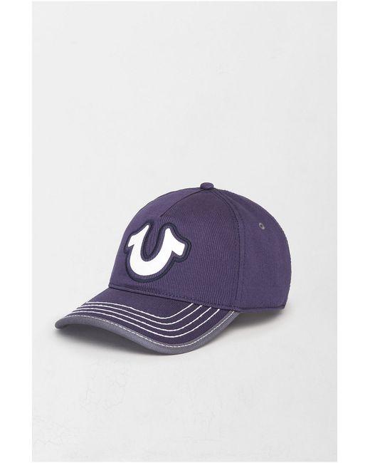 True Religion | Blue Horseshoe Puff Baseball Cap for Men | Lyst