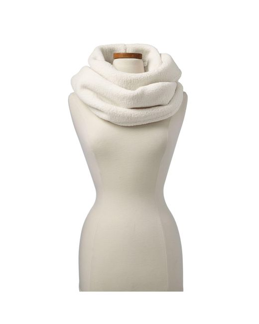 Lands' End - White Cream Cosy Sherpa Fleece Infinity Scarf - Lyst