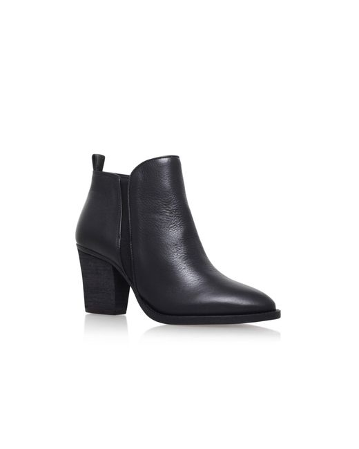 Vince Camuto - Black 'micaley' Mid Heel Zip Up Ankle Boot - Lyst