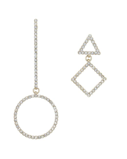 Red Herring - Metallic Pave Mismatch Earrings Set - Lyst