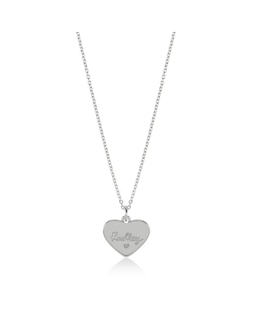 Radley - Metallic Silver Etched Ditsy Heart Pendant Necklace - Lyst