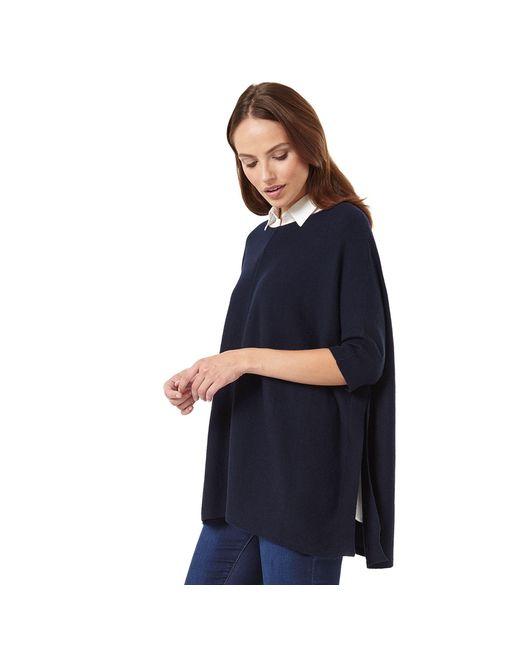 Phase Eight - Blue Rachele Shirt Poncho Knit - Lyst