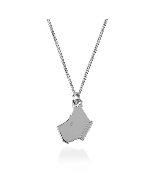 Radley - Metallic Silver 'love ' Dog Pendant Necklace - Lyst