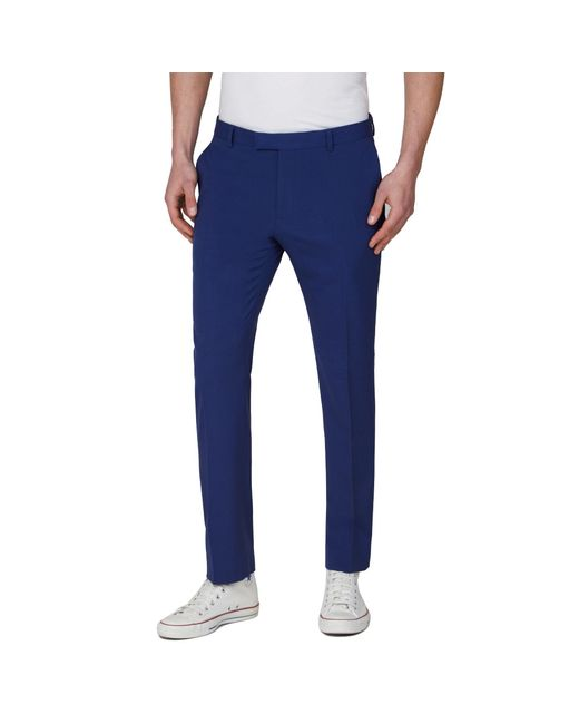 f0377eea90d3f6 Red Herring Bright Blue Slim Fit Suit Trousers in Blue for Men - Lyst