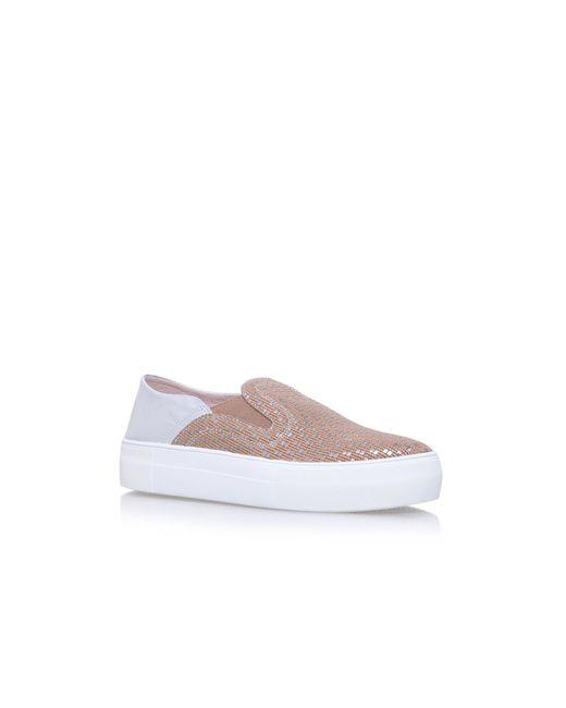 Vince Camuto - Metallic Metal Kyay Flat Slip On Sneakers - Lyst