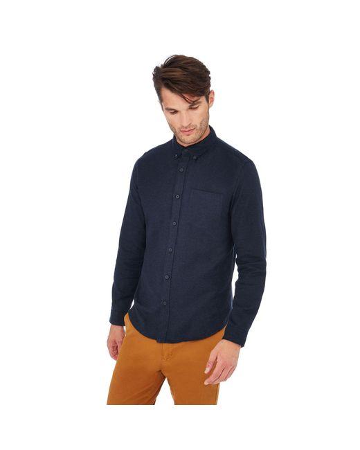 Red Herring - Blue Long Sleeve Slim Fit Shirt for Men - Lyst