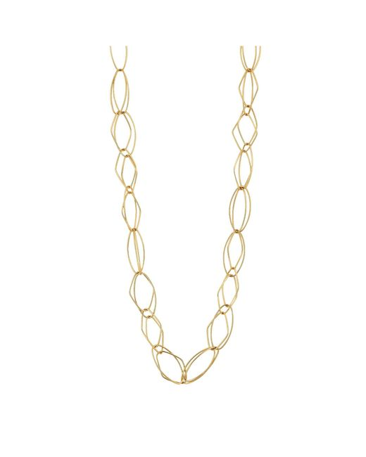 J By Jasper Conran - Metallic Gold Geometric Link Long Necklace - Lyst