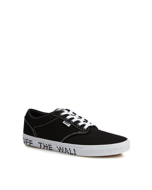 Vans - Black Canvas 'atwood' Printed Sole Trainers for Men - Lyst