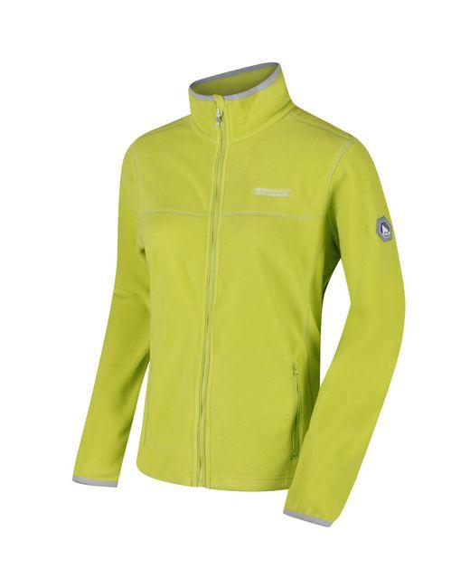 Regatta - Green Lime Floreo Sporty Zip Through Fleece - Lyst
