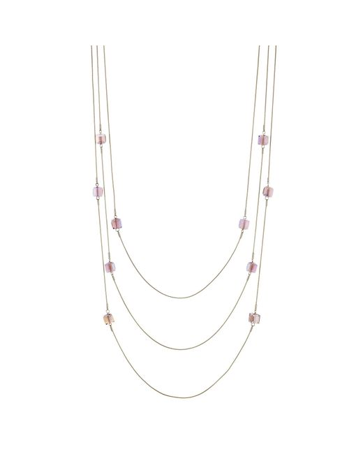 J By Jasper Conran - Purple Designer Beaded Multi Row Necklace - Lyst