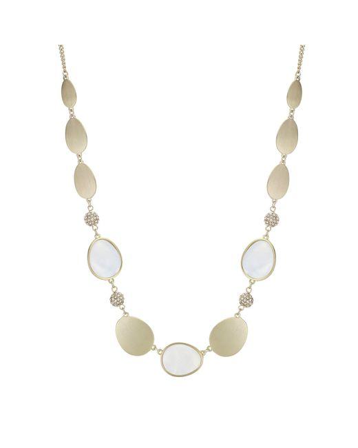 J By Jasper Conran - Metallic Designer Pave Ball Necklace - Lyst