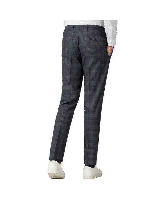 d3e33280727b6c ... Red Herring - Blue Navy Rust Overcheck Skinny Fit Suit Trousers for Men  - Lyst
