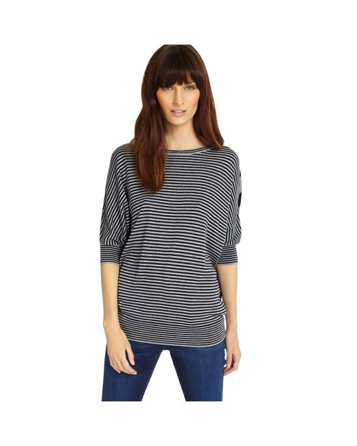 Phase Eight - Blue Mix Stripe Becca Batwing Jumper - Lyst