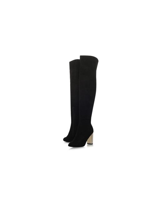 8bef0a63d83 Miss Kg Black  harrie  Mid Heel Over The Knee Boots in Black - Save ...