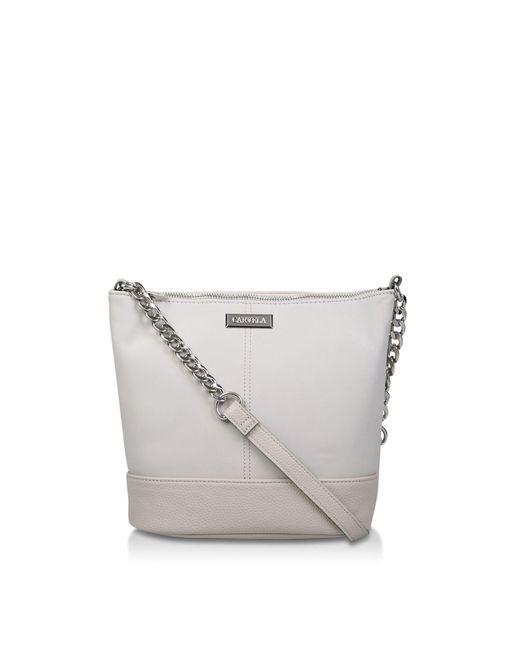 5e3e46b3edc0 Carvela Kurt Geiger Grey 'rich Zip Top Chain' Bucket Bag in Gray - Lyst