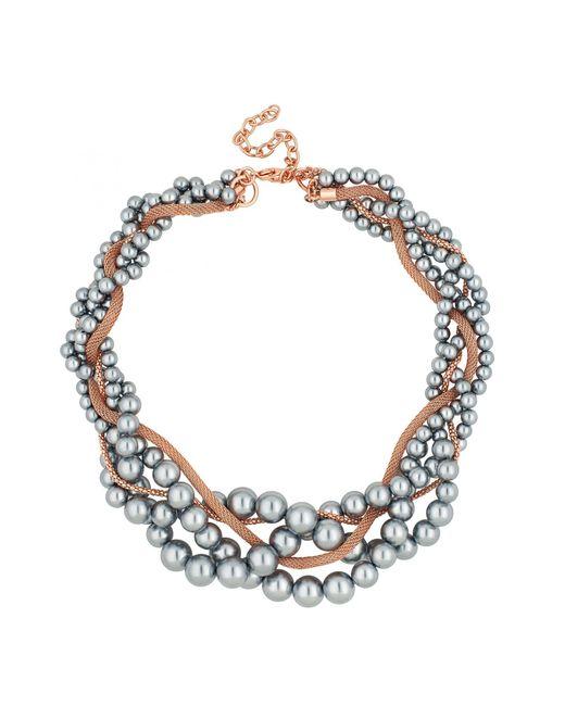 J By Jasper Conran - Gray Designer Pearl And Chain Twist Necklace - Lyst