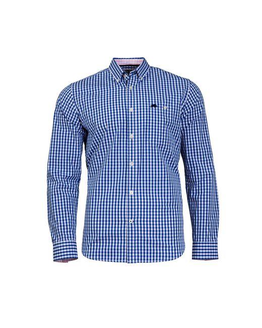 Raging Bull - Blue Gingham Cobalt Shirt for Men - Lyst