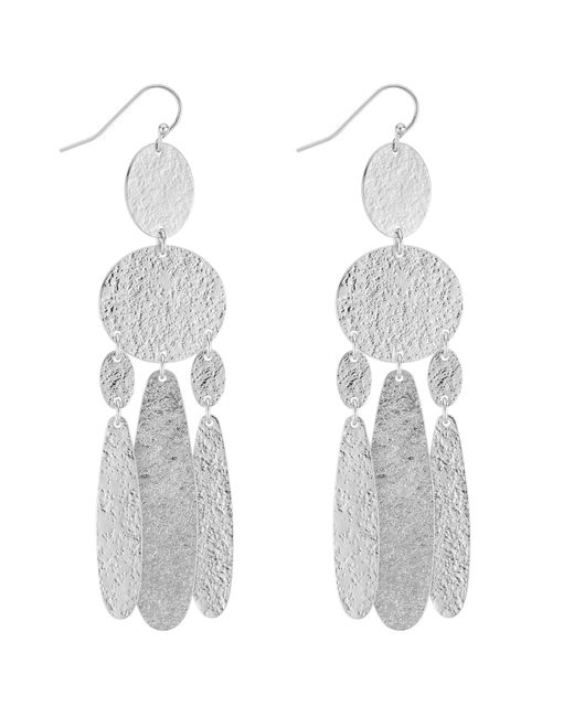 J By Jasper Conran - Metallic Designer Textured Chandelier Earrings - Lyst