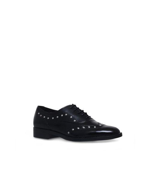 Carvela Kurt Geiger - Black Luxury Flat Lace Up Shoes - Lyst