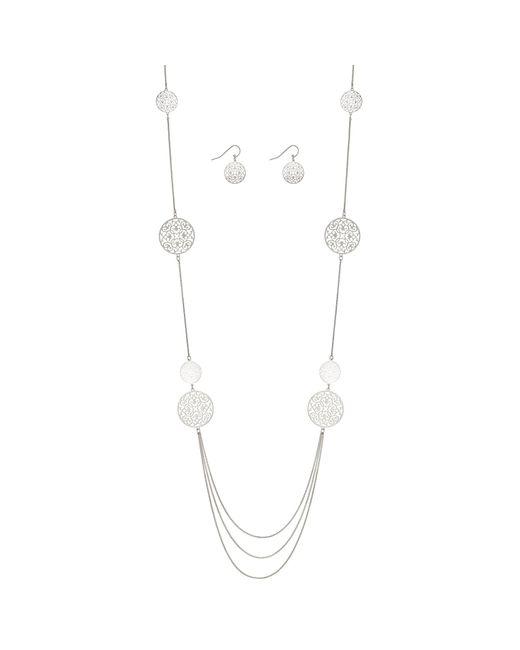 J By Jasper Conran - Metallic Designer Filigree Disc Jewellery Set - Lyst