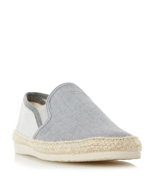 0ee7f576a Bertie - Gray Grey 'fondant' Chambray Espadrille Shoe for Men - Lyst ...