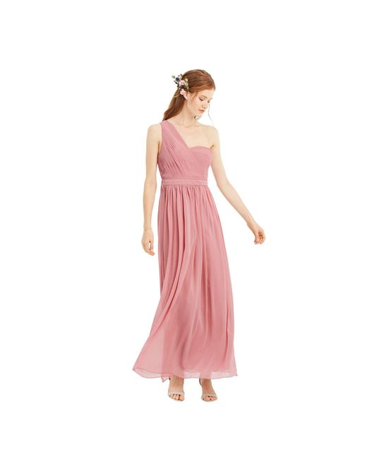 9551337e9ca0 Oasis Pale Pink  maddie  One Shoulder Chiffon Maxi Dress in Pink ...