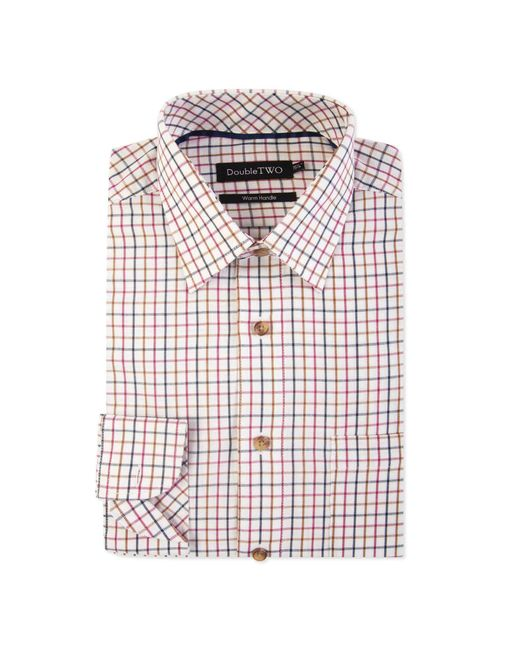 Double Two Multicolor Multicoloured Tattersall Check Formal Shirt for men