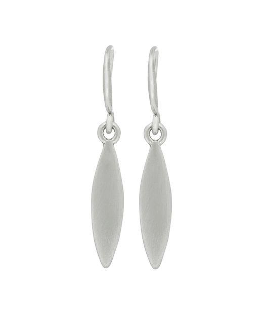 Pilgrim - Metallic Silver Plated 'luna' Drop Earrings - Lyst