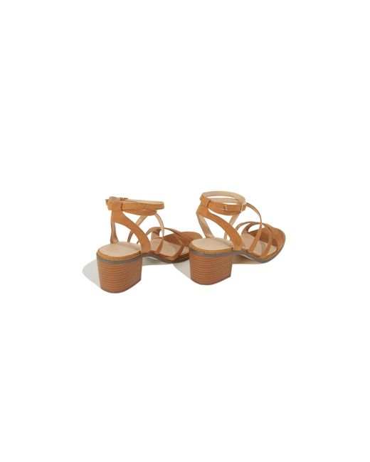 218b4aa97725 ... Oasis - Brown Tan  ava  Strappy Heeled Sandals - Lyst