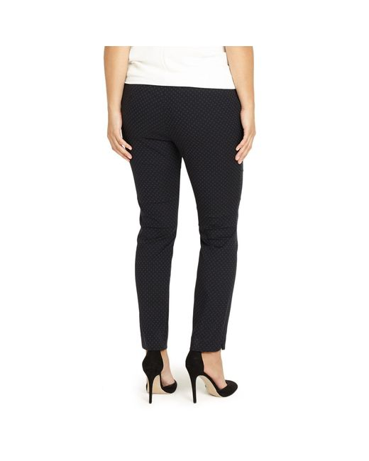 65ef905f53f53 Studio 8 Sizes 12-26 Black Freddie Tapered Trousers in Black - Lyst