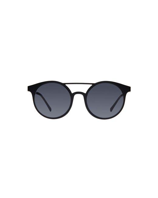 Le Specs - Black Classic Round Sunglasses - Lyst