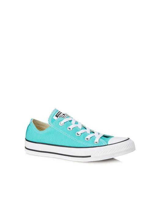 Converse - Blue Aqua Canvas 'chuck Taylor All Star' Trainers - Lyst