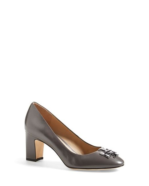 Tory Burch | Black Raleigh Patent-Leather Pumps  | Lyst