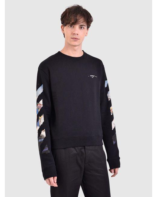 2162133a8d80 Lyst - Off-White c o Virgil Abloh Printed Cotton Sweatshirt in Black ...