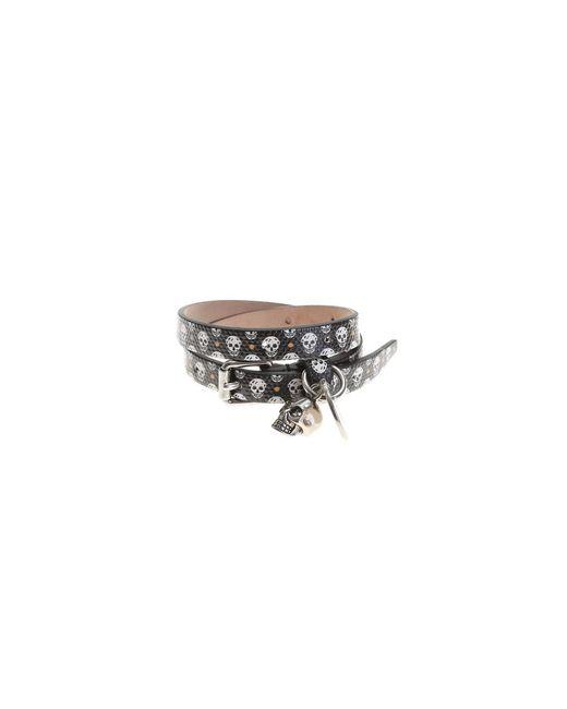 Alexander McQueen - Black Leather Studded Bracelet - Lyst